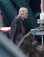 Michael Douglas is seen on the set of The Kominsky Method - 31 Jan 2018