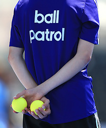 Ball patrol boy during the Men's World Hockey League match at Lee Valley Hockey Centre, London. PRESS ASSOCIATION Photo. Picture date: Tuesday June 20, 2017. Photo credit should read: Nigel French/PA Wire