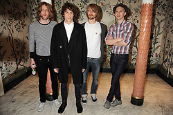 Andy Burrows, Johnny Borrell, Carl Dalemo and Bjorn Agren of Razorlight  at the 2009 South Bank Show Awards held at The Dorchester, Park Lane, London on 20th January 2009.