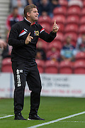 Karl Robinson (Manager) (Milton Keynes Dons) during the Sky Bet Championship match between Middlesbrough and Milton Keynes Dons at the Riverside Stadium, Middlesbrough, England on 12 September 2015. Photo by George Ledger.