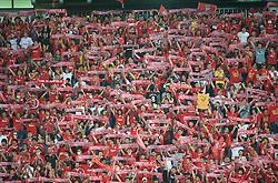 BANGKOK, THAILAND - Wednesday, July 22, 2009: Thai Liverpool supporters during a preseason friendly match against Thailand at the Rajamangala Stadium. (Pic by David Rawcliffe/Propaganda)