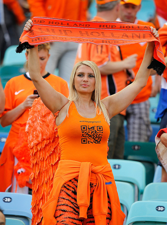 A Busty Dutch Fan During The 2010 Fifa World Cup South Africa Group E Match Between