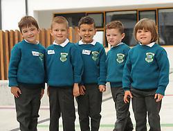 Junior infants at Scoil Padraig Westport<br /> Pic Conor McKeown