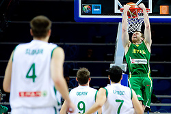 Martynas Pocius of Lithuania during basketball game between National basketball teams of Slovenia and Lithuania at of FIBA Europe Eurobasket Lithuania 2011, on September 15, 2011, in Arena Zalgirio, Kaunas, Lithuania.  (Photo by Vid Ponikvar / Sportida)
