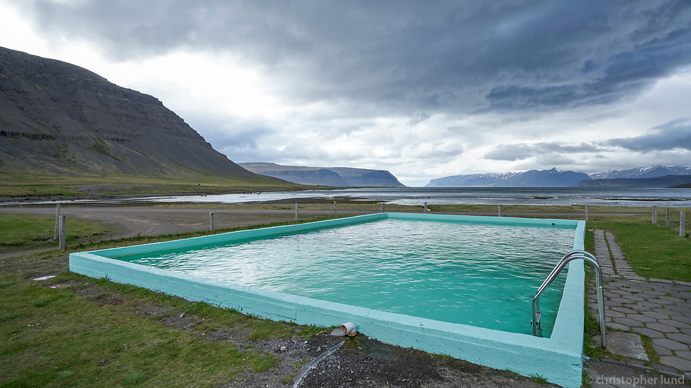 Reykjarfjörður swimming pool, West fiords of Iceland.