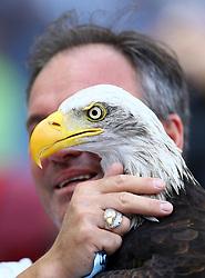 October 7, 2018 - Rome, Italy - SS Lazio v ACF Fiorentina - Serie A .Eagle Olimpia mascotte of SS Lazio club at Olimpico Stadium in Rome, Italy on October 7, 2018. (Credit Image: © Matteo Ciambelli/NurPhoto/ZUMA Press)