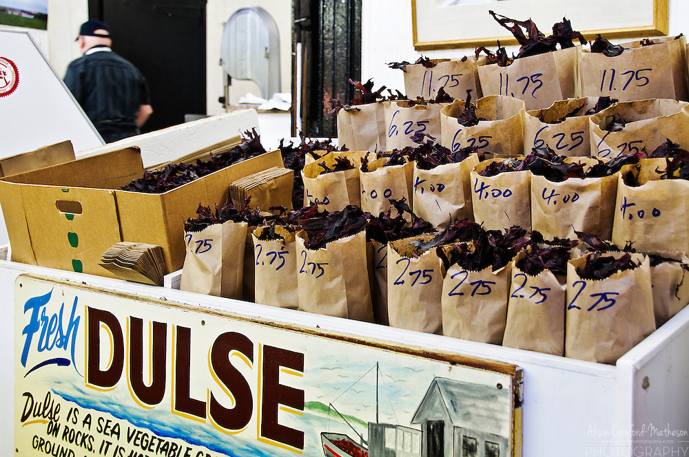 Dulse or dried seaweed is a local delicacy at the Saint John City Market.