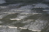 France. Saint Brieuc, Plage des rosaires, Storm on the sea, tempete sur la mer