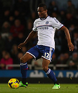 Picture by David Horn/Focus Images Ltd +44 7545 970036<br /> 23/11/2013<br /> Mikel John Obi of Chelsea during the Barclays Premier League match at the Boleyn Ground, London.