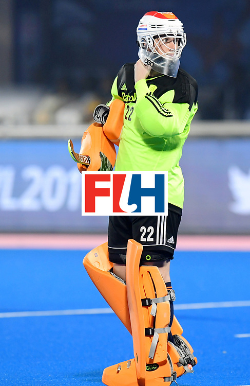 Odisha Men's Hockey World League Final Bhubaneswar 2017<br /> Match id:08<br /> Netherlands v Argentina<br /> Foto: keeper Sam van der Ven (Ned) <br /> WORLDSPORTPICS COPYRIGHT FRANK UIJLENBROEK