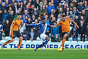 Birmingham City's Stephen Gleeson & Wolverhampton Wanderers Scott Golbourne challenge for the ball during the Sky Bet Championship match between Birmingham City and Wolverhampton Wanderers at St Andrews, Birmingham, England on 31 October 2015. Photo by Shane Healey.