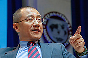 The International Monetary Fund - IMF - holds its annual conference in DC amidst an US and European financial crisis. Gao Xiqing, China Investment, Corporation.
