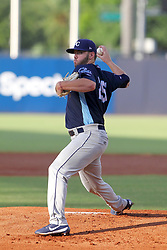 May 28, 2018 - Tampa, FL, U.S. - TAMPA, FL - MAY 23: Brandon Lawson (25) of the Stone Crabs delivers a pitch to the plate during the Florida State League game between the Charlotte Stone Crabs and the Tampa Tarpons on May 23, 2018, at Steinbrenner Field in Tampa, FL. (Photo by Cliff Welch/Icon Sportswire) (Credit Image: © Cliff Welch/Icon SMI via ZUMA Press)