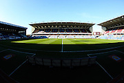 Empty group ahead of during the Sky Bet Championship match between Burnley and Middlesbrough at Turf Moor, Burnley, England on 19 April 2016. Photo by Simon Brady.