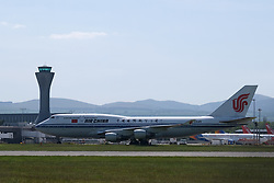 Chinese Repatriation Flight, Edinburgh, 29 May 2020<br /> <br /> An Air China Boeing 747 landed at Edinburgh Airport today from Beijing. It then left for Xi'an Airport in China carrying passengers as a repatriation flight for Chinese nationals who had been stranded in Scotland due to the covid-19 pandemic<br /> <br /> Alex Todd   Edinburgh Elite Media