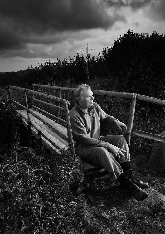 Mining historian Eric Rabjohns at the iron bridge in the mining village of Carharrack.