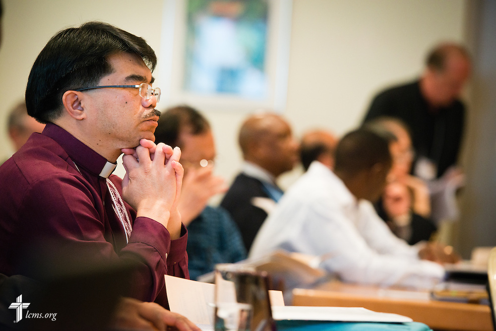 Church leaders listen Tuesday, May 5, 2015, at the International Conference on Confessional Leadership in the 21st Century in Wittenberg, Germany. LCMS Communications/Erik M. Lunsford