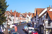 High Street, Lavenham, Suffolk, UK