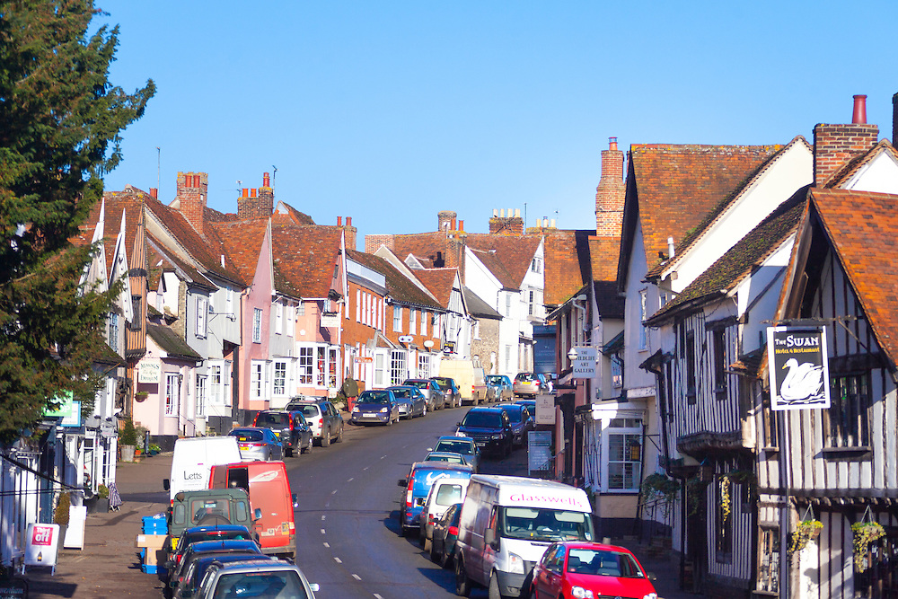 High Street, Lavenham, Suffolk, UK