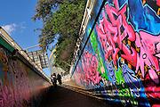 Public graffiti art mural. Saint Kilda, Melbourne, Australia
