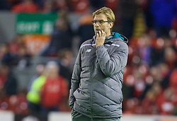 LIVERPOOL, ENGLAND - Thursday, November 26, 2015: Liverpool's manager Jürgen Klopp before the UEFA Europa League Group Stage Group B match against FC Girondins de Bordeaux at Anfield. (Pic by David Rawcliffe/Propaganda)