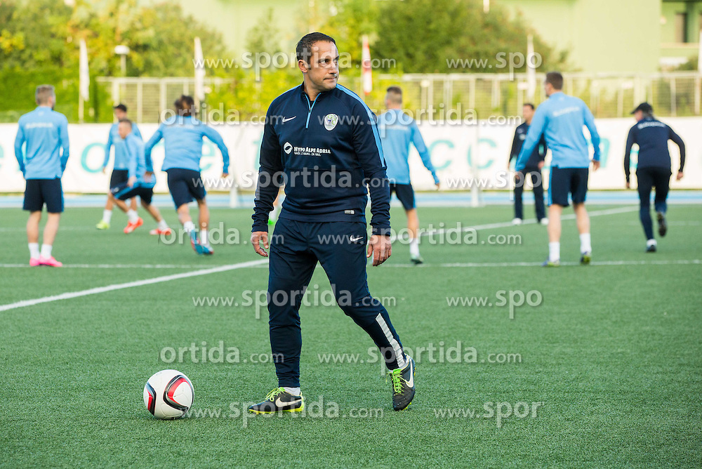 Ales Ceh, assistant coach during the practice session of Team Slovenia 1 day before EURO 2016 Qualifier Group E match between Slovenia and San Marino, on October 11, 2015 in Riccione, Italy. Photo by Vid Ponikvar / Sportida