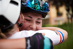 Lisa Klein (GER) celebrates the stage win at Boels Ladies Tour 2019 - Stage 3, a 156.8 km road race starting and finishing in Nijverdal, Netherlands on September 6, 2019. Photo by Sean Robinson/velofocus.com