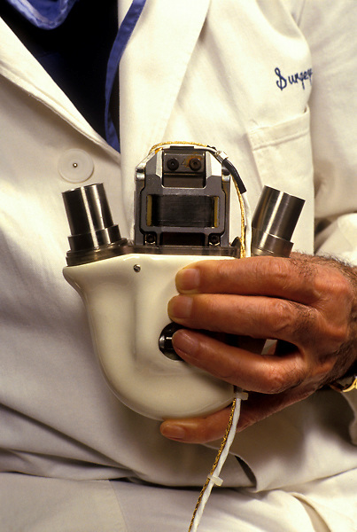 Stock photo of an artificial heart.