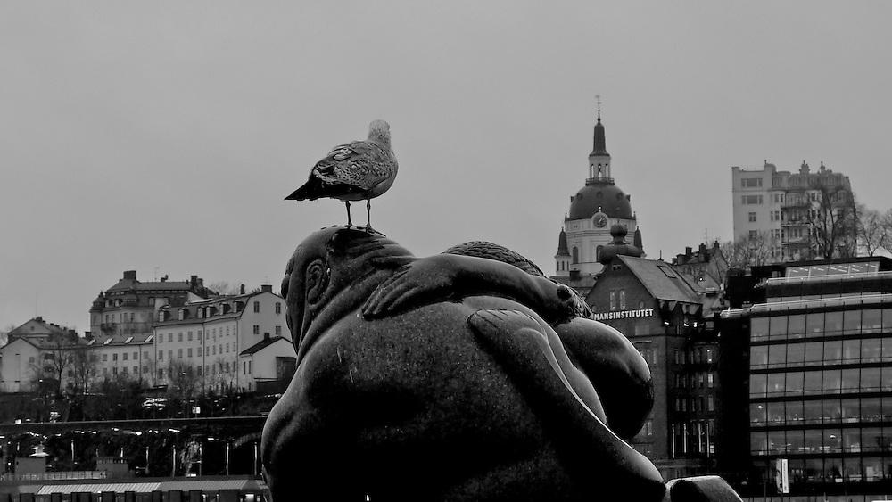 Skulptur på Skeppsbron