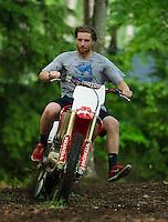 Motorcycle Gilford, NH.  ©2015 Karen Bobotas Photographer