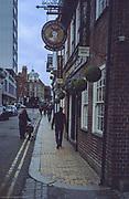 Maidenhead. Berkshire, United Kingdom, Maidenhead High Street, Maidenhead Town Centre, Ferry Crossing Dover Sunrise,<br /> <br /> Saturday  02/12/2017<br /> <br /> © Peter SPURRIER<br /> Olympus XA2, Kodak, Kodacolour 400. ASA.