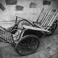 Where: Hanoi, Vietnam. Rickshaw on the roadside.