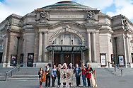 Edinburgh Festival Panel group portrait for the Great Tapestry of Scotland project. Photographed at the Usher Hall in Edinburgh to mark the connection between festival and venue. www.scotlandstapestry.com<br /> <br /> pictures by Alex Hewitt