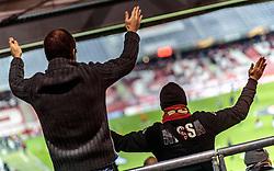 20.10.2016, Red Bull Arena, Salzburg, AUT, UEFA EL, FC Red Bull Salzburg vs OGC Nizza, Gruppe I, im Bild Nizza Fanblock // Nice fan sector during the UEFA Europa League group I match between FC Red Bull Salzburg and OGC Nizza at the Red Bull Arena in Salzburg, Austria on 2016/10/20. EXPA Pictures © 2016, PhotoCredit: EXPA/ JFK