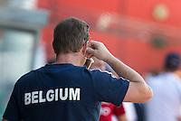 MELBOURNE - De Nederlander Marc Lammers  als coach van de Belgische mannen hockeyselectie aan het werk tegen Australie tijdens de Champions Trophy mannen. ANP KOEN SUYK