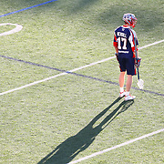 Geoff Snider #17 of the Charlotte Hounds looks at the play during the game at Harvard Stadium on May 17, 2014 in Boston, Massachuttes. (Photo by Elan Kawesch)