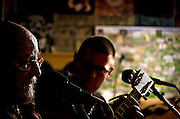 Jim Six and Greg Potter performaning on St. Patrick's Day at The Bus Stop Music Cafe in Pitman, NJ .