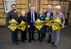 Pictured: Alexander Graham (Tranent, Wallyford and Macmerry ward), Elizabeth Wilson (Dunbar and East Linton ward), Willie Rennie, Claire Graham (Mussleburgh ward), Kelvin Pate (Haddington and Lammarmuir ward) and Robert O'Riordan (North Berwick Coastal ward) <br /> <br /> Scottish Liberal  Party leader Willie Rennie joined with local candidates and supporters in Mussleburgh today as part of a whistle stop tour to launch the Scottish Liberal Democrates manifesto for the upcoming council elections. <br /> <br /> Ger Harley | EEm 28 February 2017