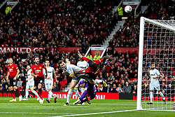 Romelu Lukaku of Manchester United heads over from close range - Mandatory by-line: Robbie Stephenson/JMP - 25/09/2018 - FOOTBALL - Old Trafford - Manchester, England - Manchester United v Derby County - Carabao Cup