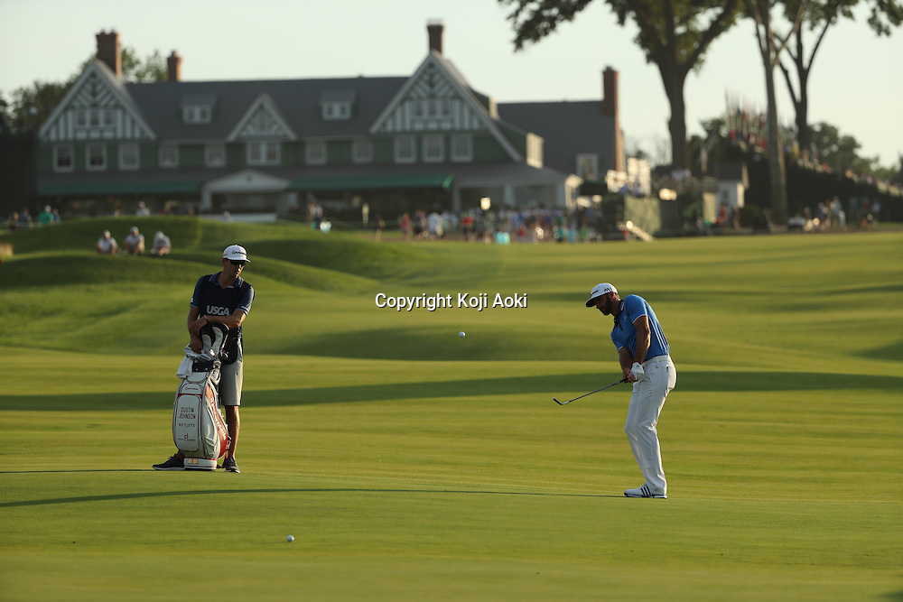 Dustin Johnson (USA),<br /> JUNE 18, 2016 - Golf :<br /> Dustin Johnson of the United States on 10th hole during the third round of the U.S. Open Championship at Oakmont Country Club in Oakmont, Pennsylvania, United States of America. (Photo by Koji Aoki/AFLO SPORT)