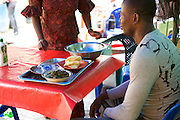 Joy Kalu runs Goodness Catering Services, which is a restaurant and events catering business.<br /> <br /> Joy began her catering business in 1999. She started off just making 10 or 15 soups to sell each day but soon the business grew and she started diversifying the range of food she sold. After three years she moved into her premises at the local market and her business developed into catering for events such as weddings and funerals.<br /> <br /> The main thing Joy learnt on the Youth for Technology training was the importance of capital investment.