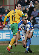 Huddersfield - Saturday, March 13th, 2010: Stephen Elliott of Norwich City scores the third goal against Huddersfield Town during the Coca Cola League One match at the Galpharm Stadium, Huddersfield. (Pic by Michael Sedgwick/Focus Images)