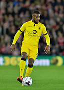 Aston Villas Leandro Bacuna during the Capital One Cup match between Southampton and Aston Villa at the St Mary's Stadium, Southampton, England on 28 October 2015. Photo by Adam Rivers.