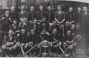 "Kilkenny All-Ireland Hurling Champions 1932/33. Back Row: Danny O'Connell (Co Sec), Fr Matt Doyle, Podge Burne, Tommy Leahy, Jimmy O'Connell, Lory Meagher, Peter O'Reilly, Paddy Phelan, Fr William Brennan, Sean Gibbons (Co Chairman). Middle Row: Martin Power, Eddie Byrne, Jim Grace, Jimmy Walsh, Paddy Larkin, Jack Fitzpatrick, Johnny Dunne. Front Row: Dan Dunne, Jack ""Sag"" Carroll, Paddy Dowling, Eddie Doyle (capt), Matty Power, Jim Dermody, Absent: Jack Duggan and Martin White."