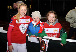 Poppy Pattinson of Bristol City poses for a photo with fans after the match  - Mandatory by-line: Nizaam Jones/JMP - 27/01/2019 - FOOTBALL - Stoke Gifford Stadium - Bristol, England - Bristol City Women v Yeovil Town Ladies- FA Women's Super League 1