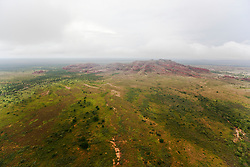 Grant's Range rises from the plains in the 2011 Kimberley wet season.