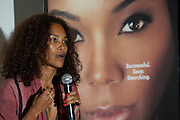 "Mara Brock Akil, creator and executive producer of  BET's ""Being Mary Jane"", leads a Q&A after a screening at the W Hotel in Dallas, Texas on June 22, 2013."