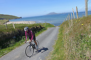 Cycling the backroads of County Mayo, Ireland.