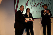 The aga Khan;  Princess Zahra Aga Khan; Arnaud Bamberger, The Cartier Racing Awards 2008, at the Grosvenor House Hotel. London.  November 17, 2008  *** Local Caption *** -DO NOT ARCHIVE-© Copyright Photograph by Dafydd Jones. 248 Clapham Rd. London SW9 0PZ. Tel 0207 820 0771. www.dafjones.com.