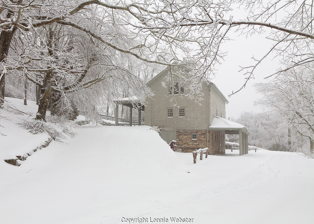 Winter scenes in the Blue Ridge Mountains of Appalachia near Blowing Rock NC